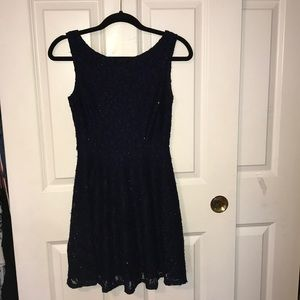 sparkly lace navy blue semi-formal dress!